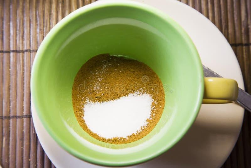 Açúcar e café foto de stock