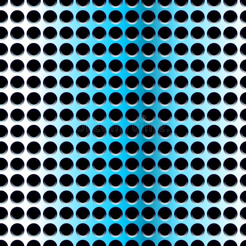 Aço azul, teste padrão sem emenda ilustração royalty free