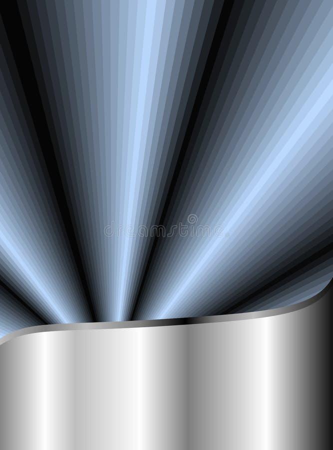 Aço inoxidável e azul radiante ilustração royalty free