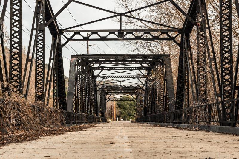 Aço Parker Truss Bridge do rio de Sweetwater imagens de stock