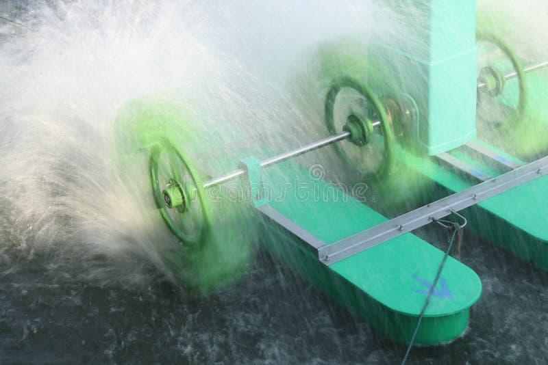 Aérateurs de rotation de roue de palette photo stock