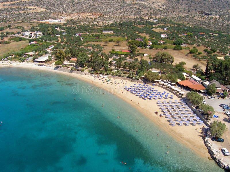 Aérez la photographie, plage de Marathi, Chania, Crète, Grèce photo stock