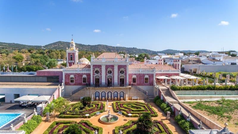 aérien Palais et jardin Algarve, Portugal, Faro d'Estoi photos stock