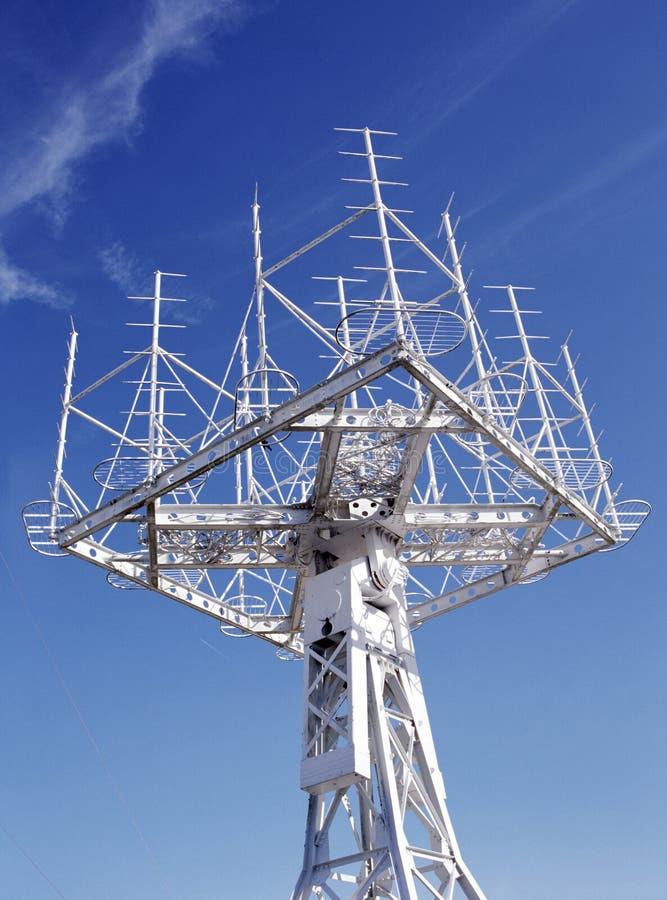 Aérien - transmission - recevez image stock