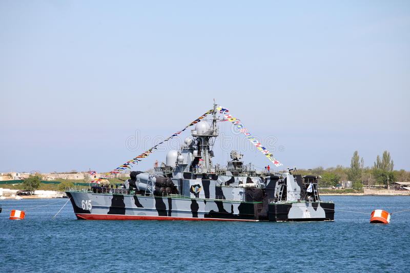Aéroglisseur de Bora de la marine russe images stock