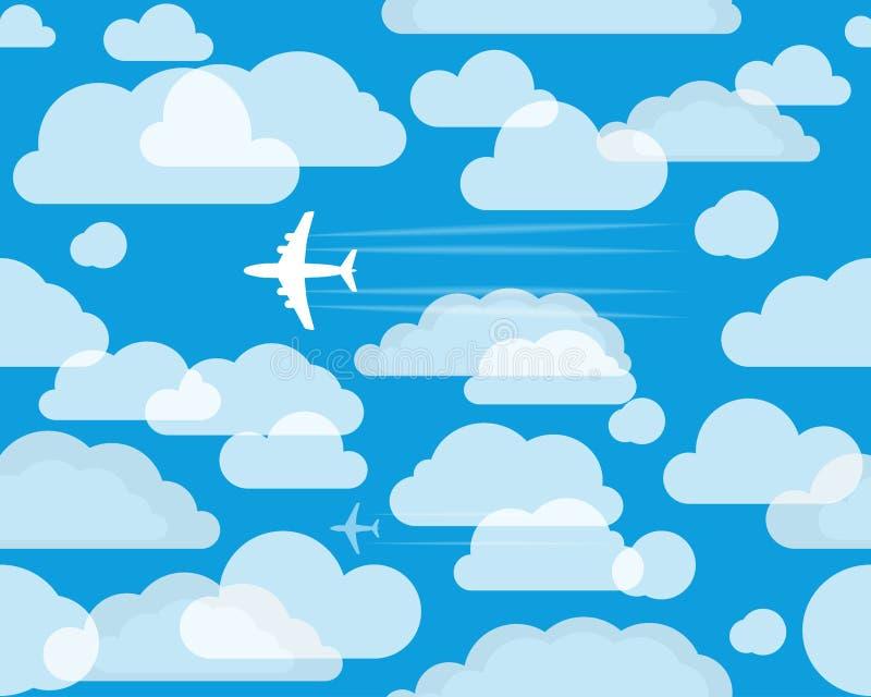 Aéronefs dans le ciel illustration stock
