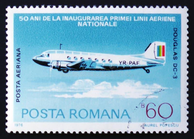 Aéronefs de Douglas DC-3 photo libre de droits