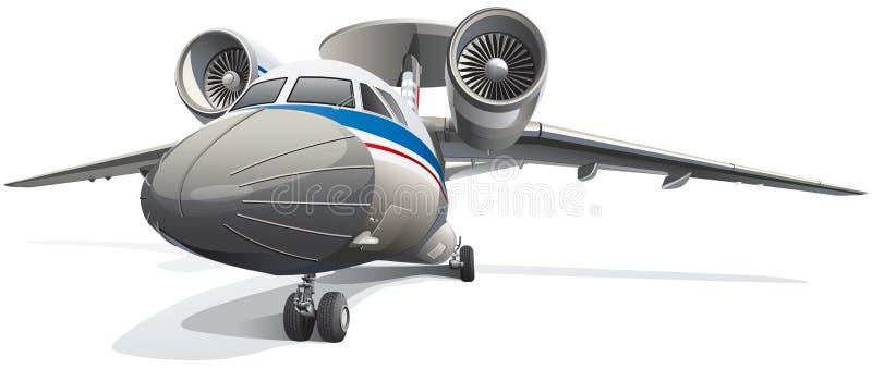 Aéronefs de système aéroporté de détection et de contrôle illustration stock