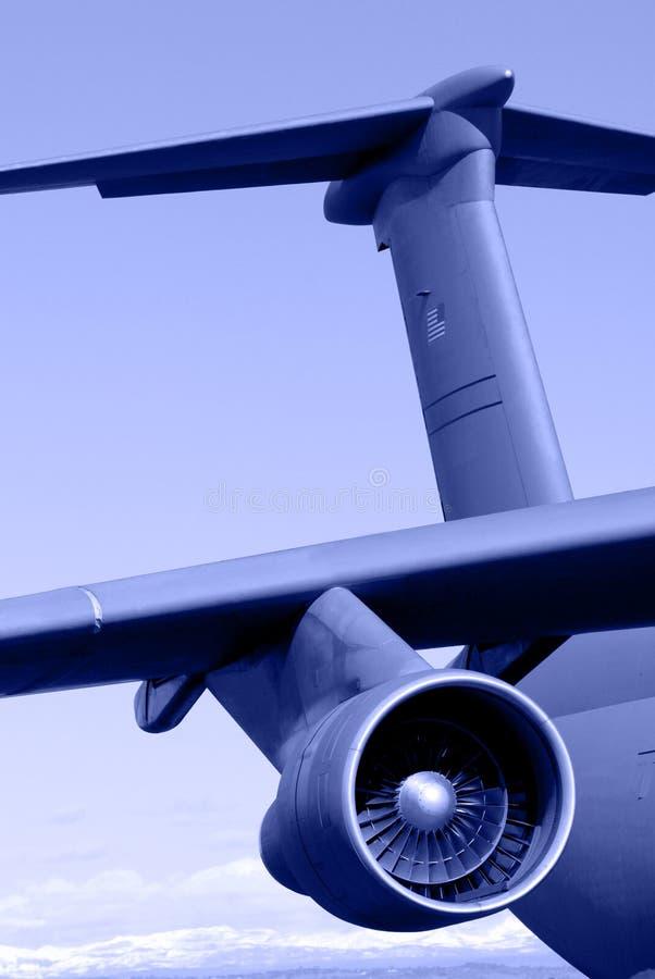 Aéronefs de transport de la galaxie C-5 photo stock