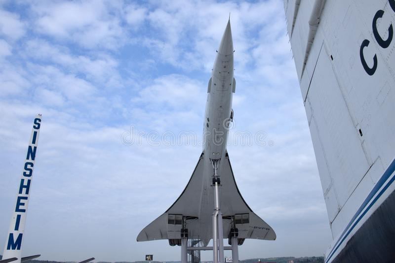 Aéronefs supersoniques Concorde photos libres de droits