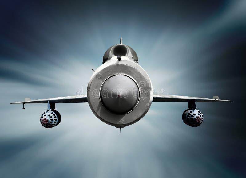 Aéronefs supersoniques de chasseur à réaction MiG-21 photo libre de droits