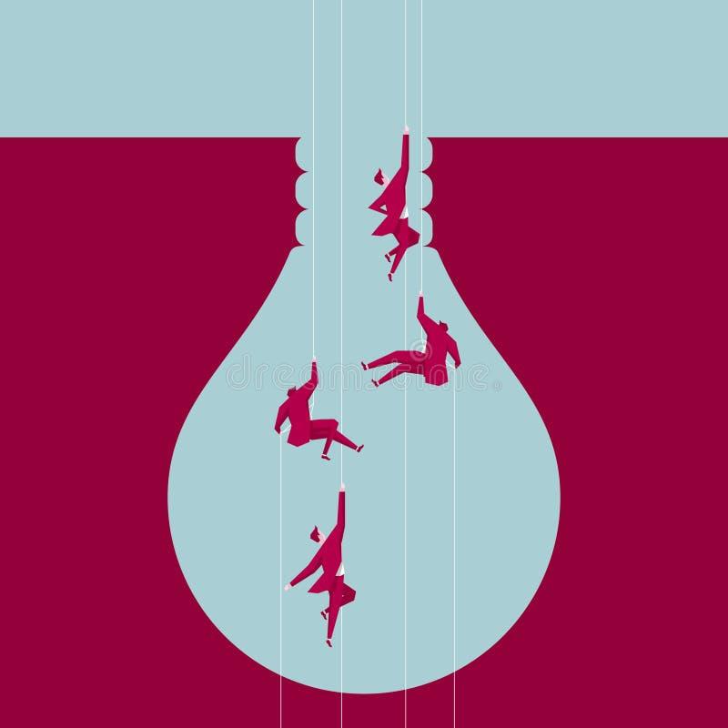Aéroporté au piège, le piège est formé comme une ampoule illustration de vecteur