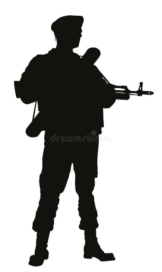 aéroporté Thème de guerriers illustration libre de droits