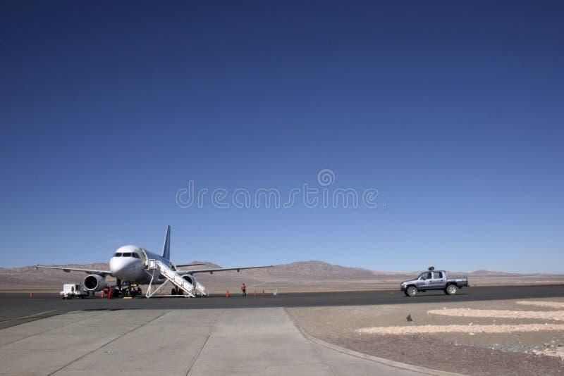 Aéroport au milieu de nulle part image libre de droits