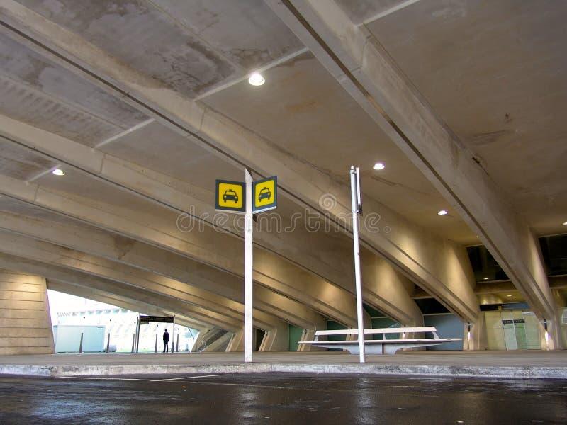 Aéroport Bilbao de paysage sous le hall images libres de droits