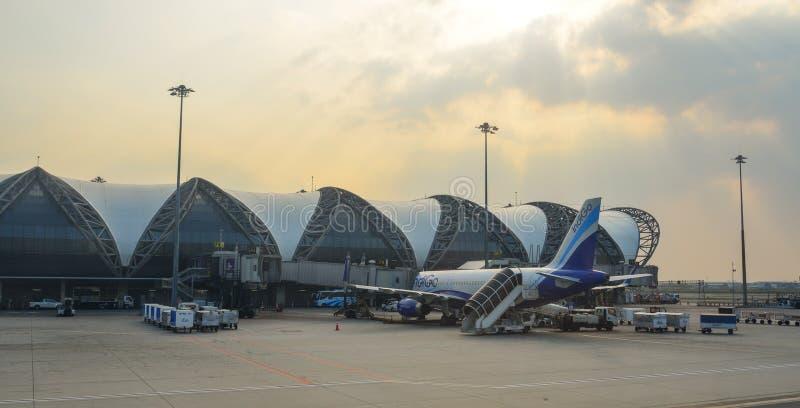Aéroport BKK de Bangkok Suvarnabhumi photo stock