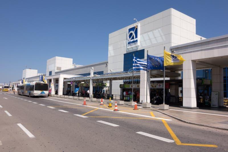 Aéroport d'Eleftherios Venizelos image libre de droits