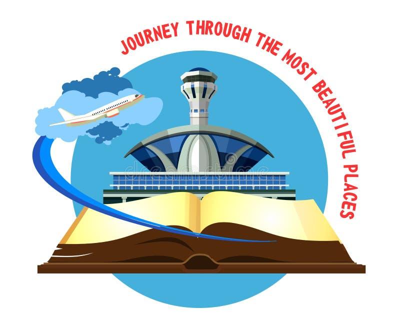 Aéroport d'emblème de vecteur illustration libre de droits
