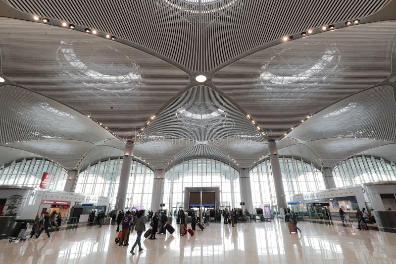 Aéroport d'Istanbul, l'aéroport international principal entrée servant Istanbul, Turquie photo stock