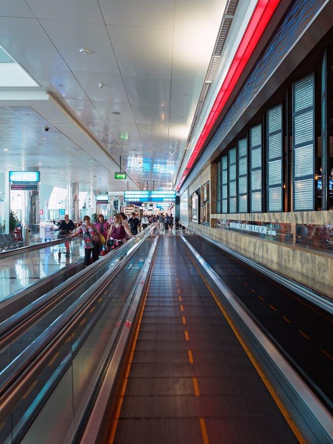 Aéroport de Dubai International, départs photographie stock libre de droits
