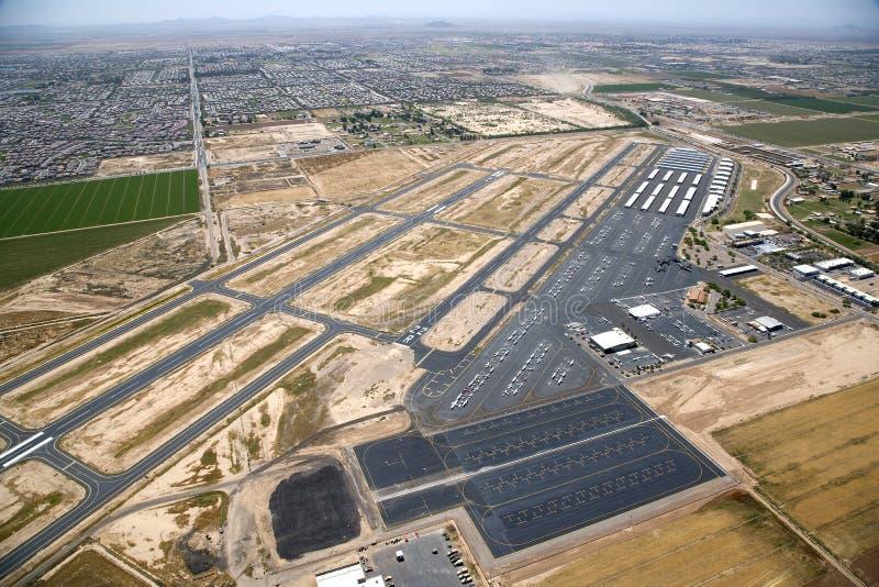 Aéroport de fournisseur image libre de droits