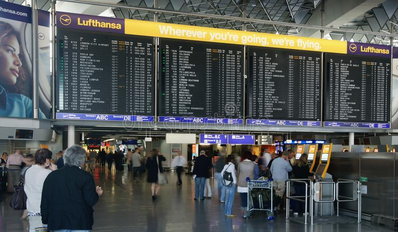 Aéroport de Francfort images stock