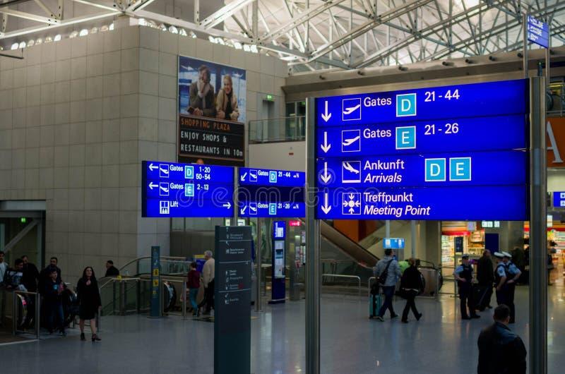 Aéroport de Francfort sur Main photos stock
