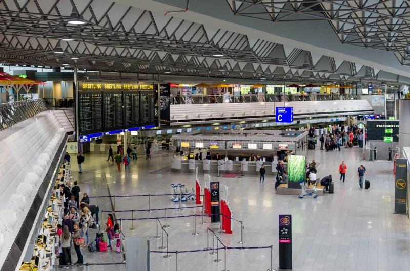Aéroport de Francfort sur Main photographie stock libre de droits