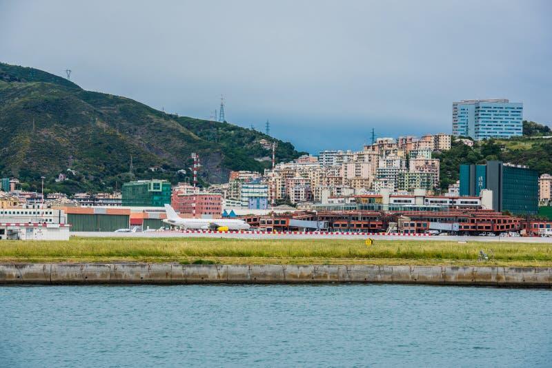 Aéroport de Gênes photos libres de droits