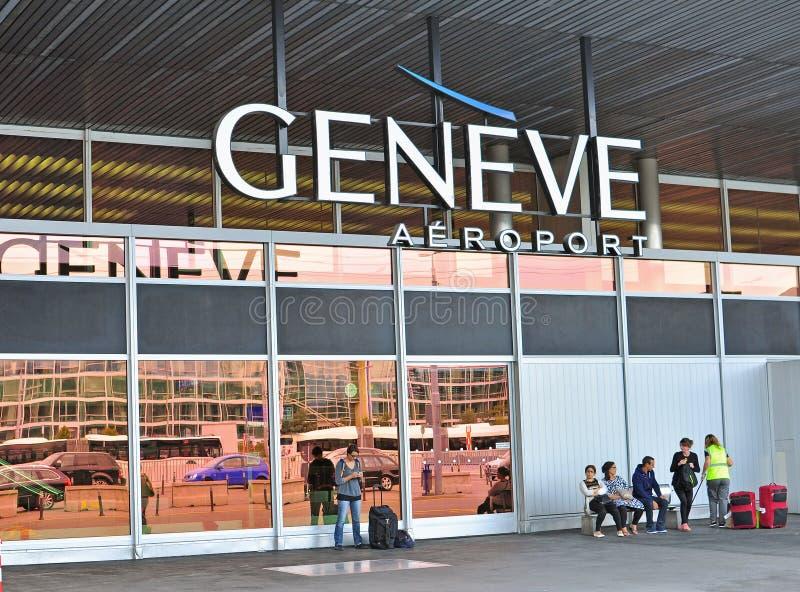 Aéroport de Genève Cointrin photo libre de droits