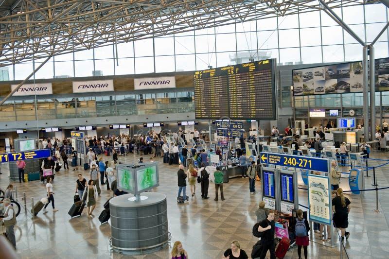 Aéroport de Helsinki image stock