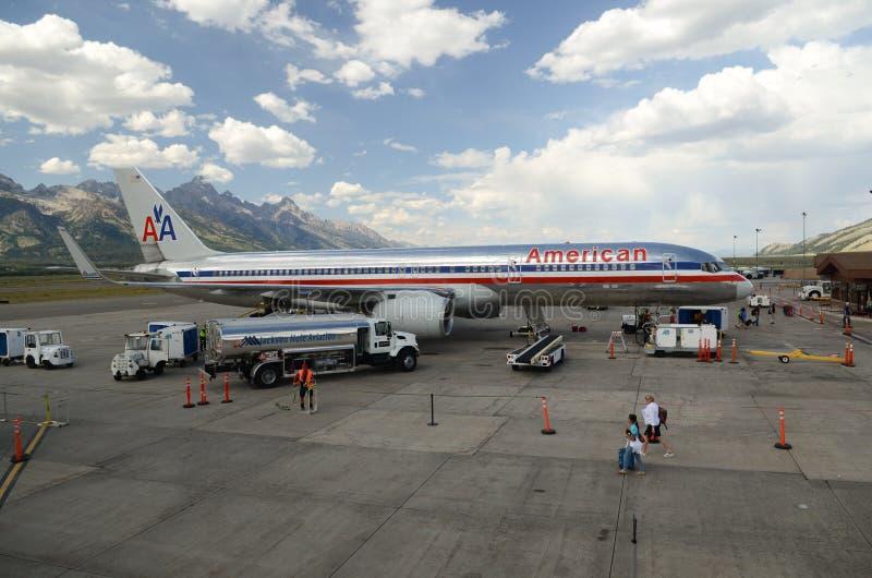 Aéroport de Jackson Hole images stock