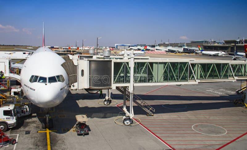 Aéroport de Johannesburg Tambo images libres de droits