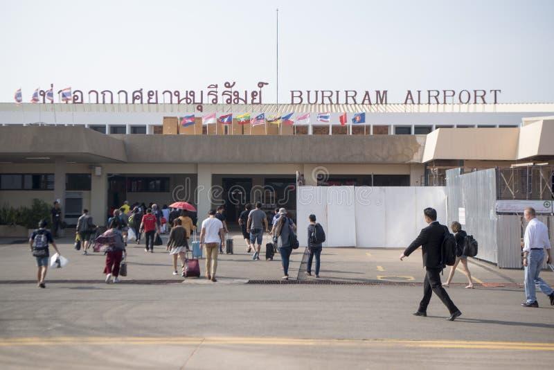 AÉROPORT DE LA THAÏLANDE BURIRAM image libre de droits