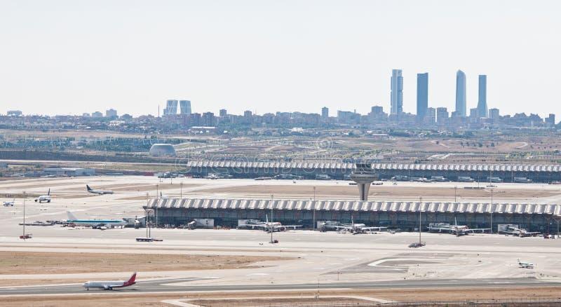 Aéroport de Madrid photographie stock libre de droits