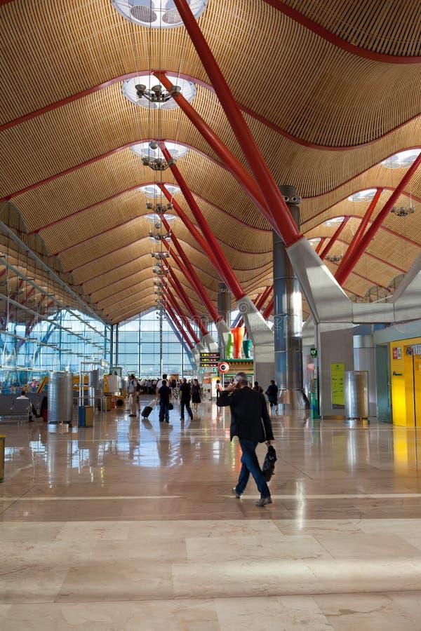 Aéroport de Madrid image libre de droits