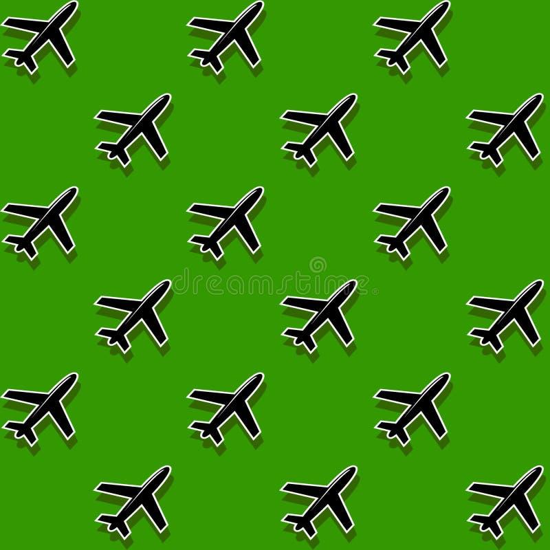 Aéroport de militaires de fond illustration de vecteur