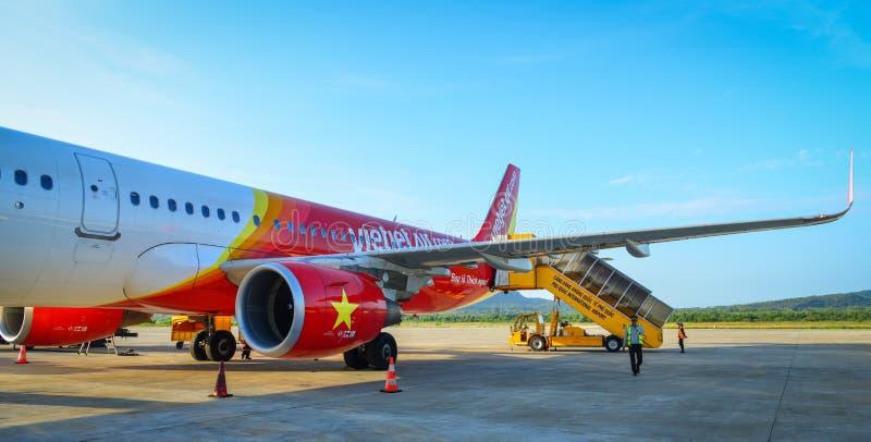 Aéroport de Phu Quoc en Kien Giang, Vietnam images libres de droits