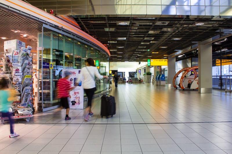 Aéroport de Schiphol image libre de droits