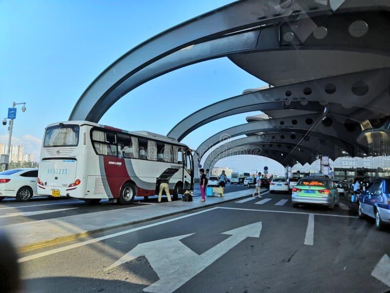 Aéroport de Shangdon Chine images stock
