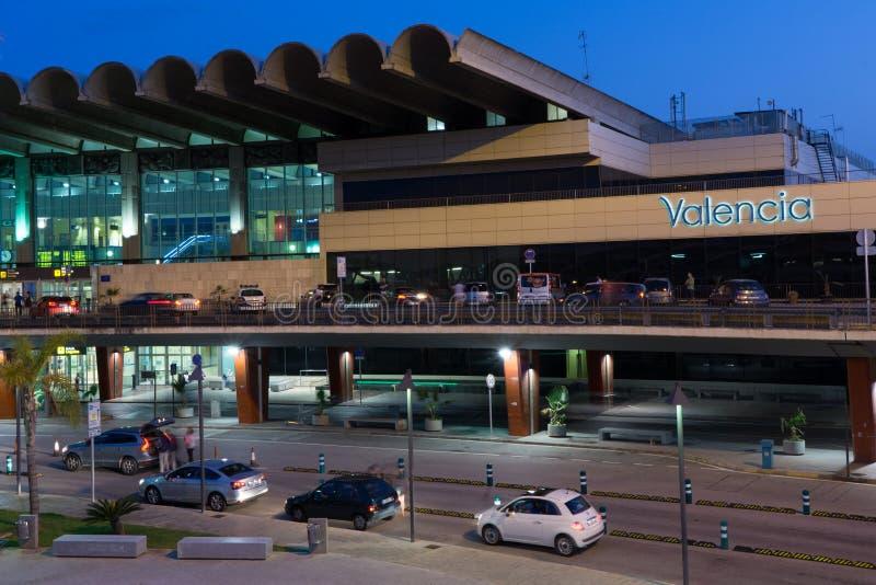 Aéroport de Valence, Espagne image libre de droits