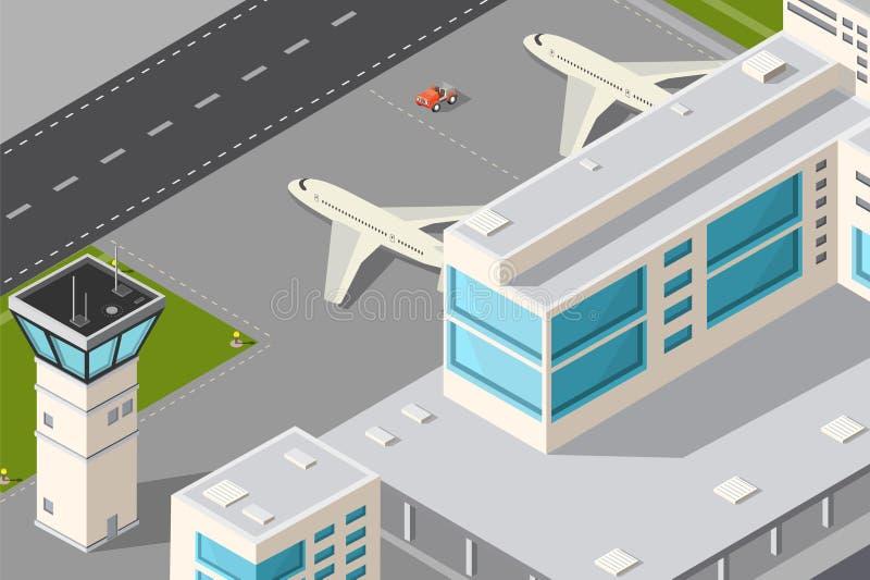 Aéroport de ville illustration libre de droits