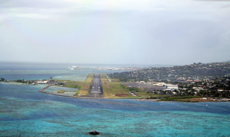 Aéroport du Tahiti images libres de droits