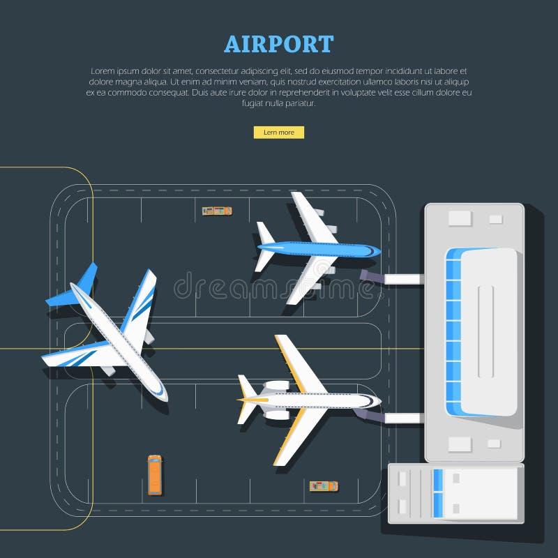 aéroport Emplacement d'avions inscription Emplanement illustration libre de droits