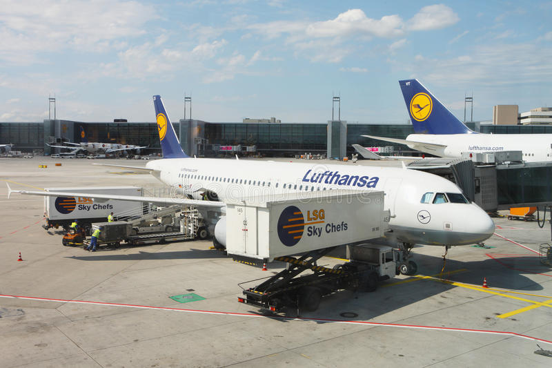 Aéroport Francfort images stock