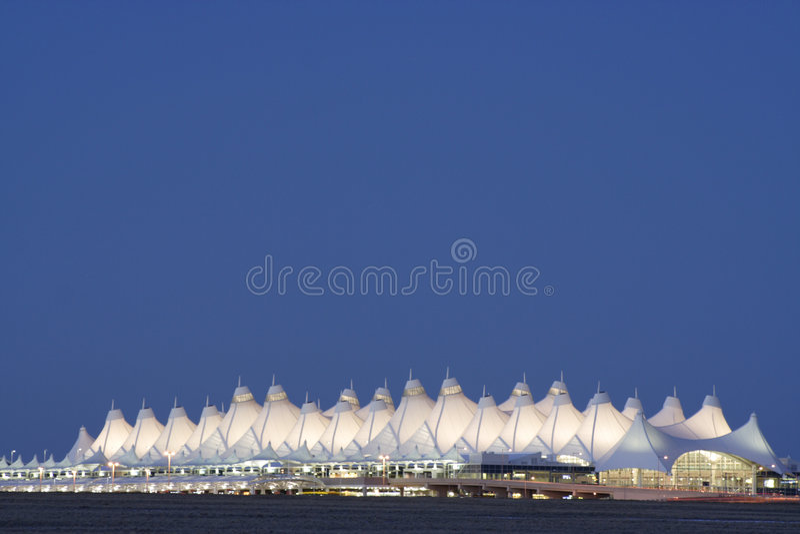 Aéroport international de Denver photos libres de droits