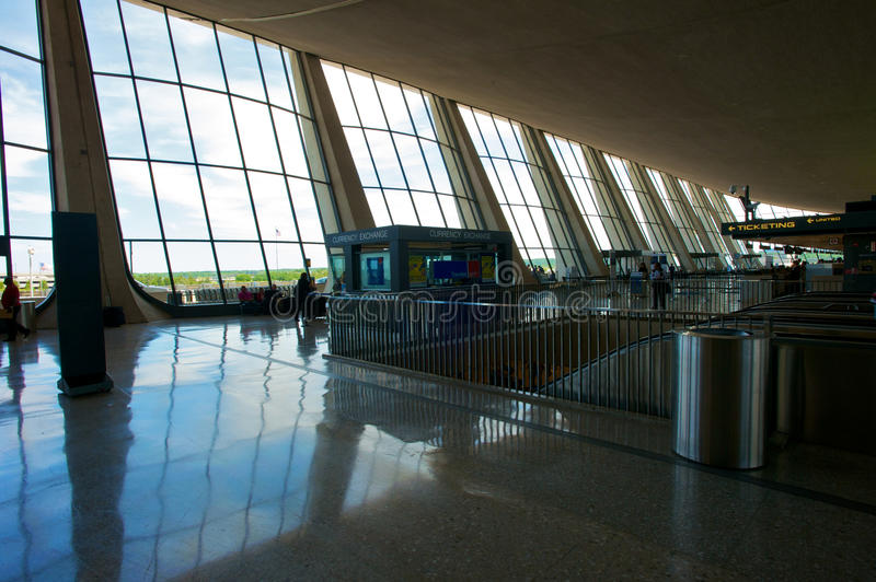 Aéroport international de Dulles images libres de droits