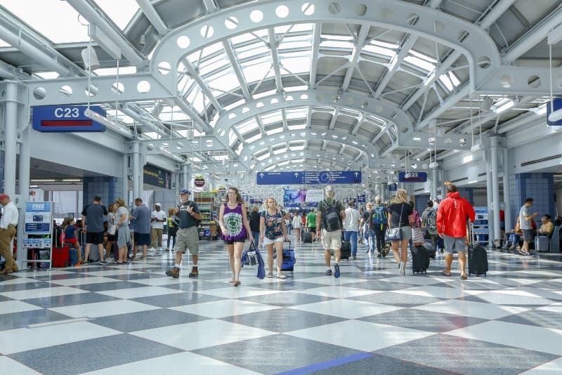 Aéroport international de lièvres d'O Chicago, Etats-Unis images stock