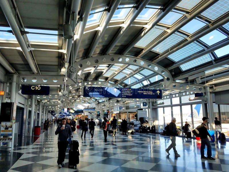 Aéroport international de lièvres de ` de Chicago O photographie stock