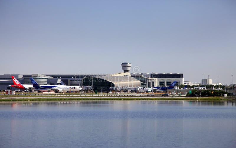 Aéroport international de Miami images libres de droits